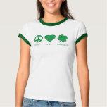 peace love shamrocks womens T-Shirt