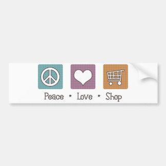 Peace Love Shop Bumper Sticker
