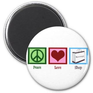 Peace Love Shop 6 Cm Round Magnet