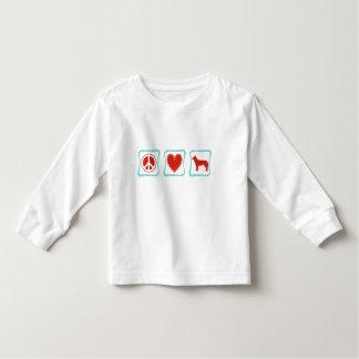 Peace Love Siberian Huskies Squares Toddler T-Shirt