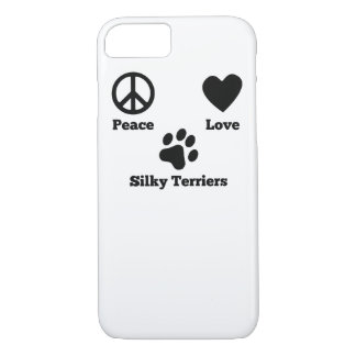 Peace Love Silky Terriers iPhone 7 Case