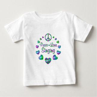 Peace Love Singing Baby T-Shirt