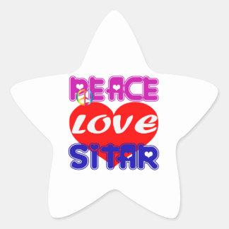 Peace Love Sitar Sticker