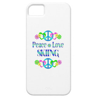 Peace Love Skiing iPhone 5 Cases