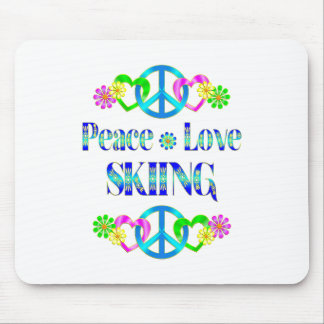 Peace Love Skiing Mouse Pad