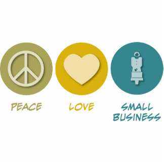 Peace Love Small Business Photo Sculptures