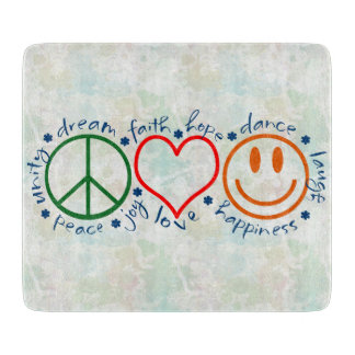 Peace Love Smile Cutting Board