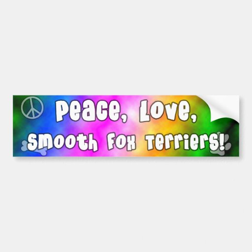 Peace Love Smooth Fox Terriers Bumper Sticker