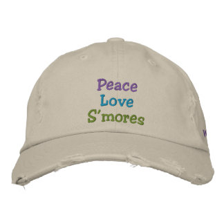 Peace Love S'mores Oil City, Washington Hat Embroidered Baseball Cap
