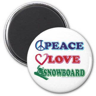 Peace-Love-Snow-Board Magnet