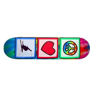 Peace, Love, Snow Skiing Skate Board Deck