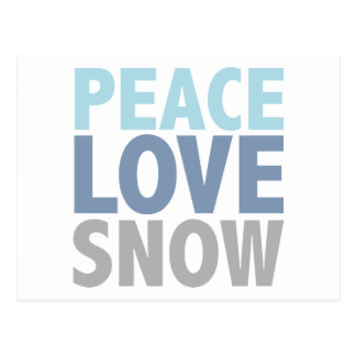 Peace Love Snow Tees Gifts Postcard