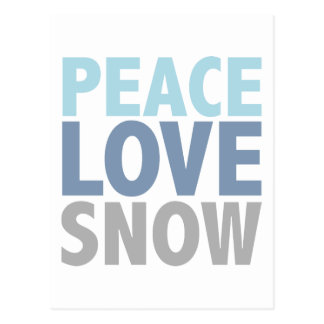 Peace Love Snow Tees Gifts Postcard