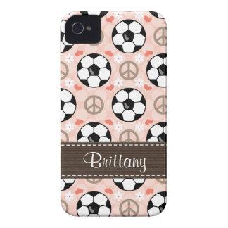 Peace Love Soccer Blackberry Bold Case