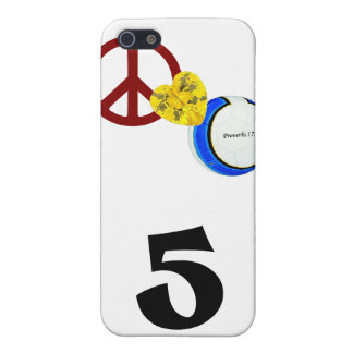Peace, Love & Soccer Cover For iPhone 5/5S