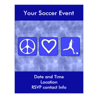 Peace Love Soccer Personalized Flyer