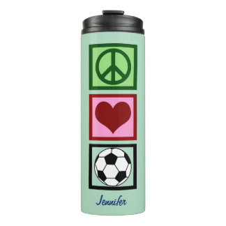 Peace Love Soccer Thermal Tumbler