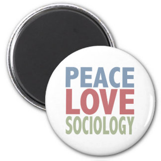 Peace Love Sociology 6 Cm Round Magnet
