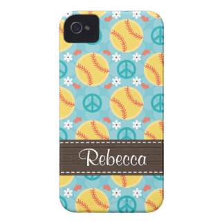 Peace Love Softball Blackberry Bold Case Cover