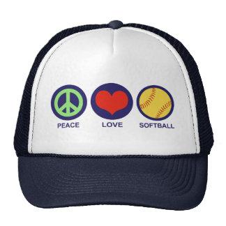 Peace Love Softball Mesh Hat