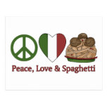Peace, Love & Spaghetti Post Cards
