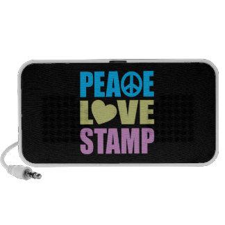 Peace Love Stamp Laptop Speaker