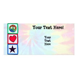 Peace, Love, Stars Full Colour Rack Card