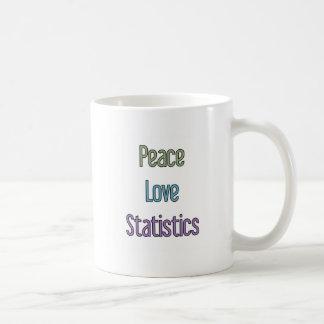 Peace, Love, Statistics Basic White Mug