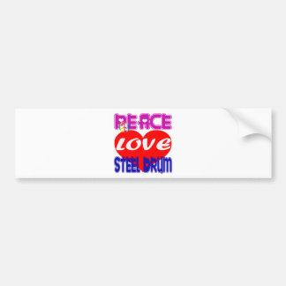 Peace Love Steel Drum Bumper Sticker