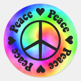 Peace Love Sticker Round Sticker
