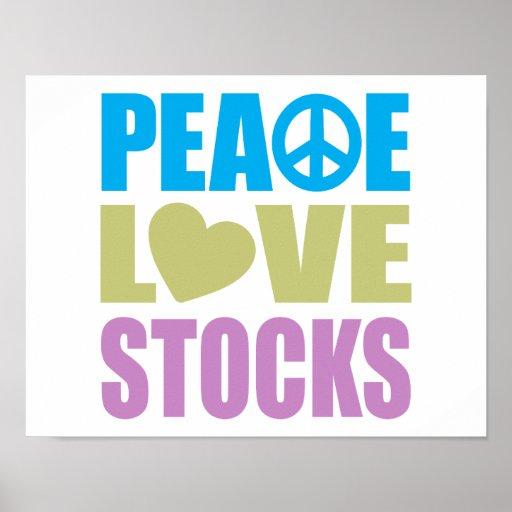 Peace Love Stocks Poster