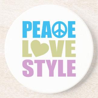 Peace Love Style Beverage Coaster