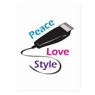 PEACE LOVE STYLE POSTCARD