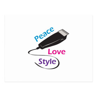 PEACE LOVE STYLE POST CARD