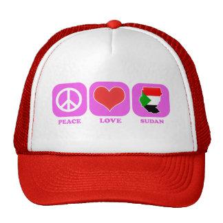 Peace Love Sudan Trucker Hat