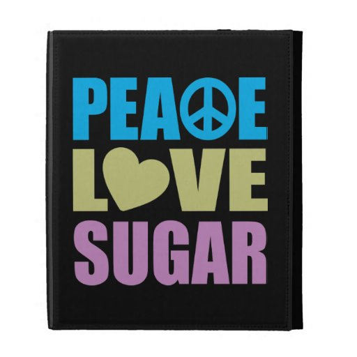 Peace Love Sugar iPad Cases