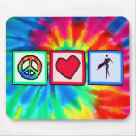 Peace, Love, Surfer Girls Mousemats