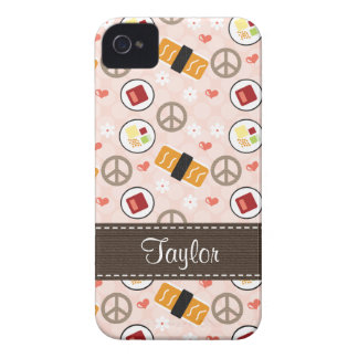 Peace Love Sushi Blackberry Bold Case Cover
