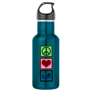 Peace Love Swimming 532 Ml Water Bottle