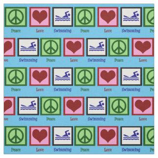 Peace Love Swimming Fabric