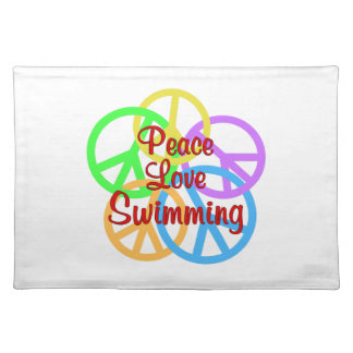 Peace Love Swimming Placemat