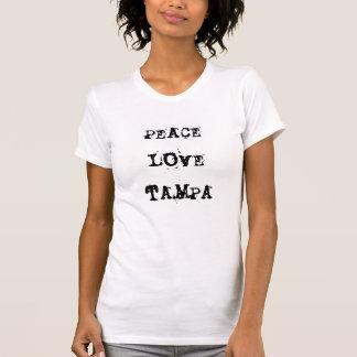 Peace Love Tampa, FL T-Shirt