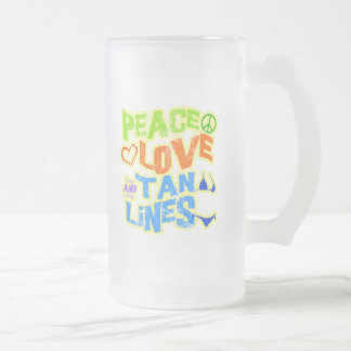 Peace Love Tan Lines Frosted Glass Mug