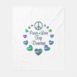 Peace Love Tap Dancing Fleece Blanket