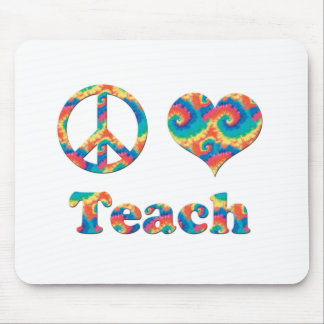 Peace Love Teach Mouse Pad