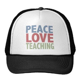 Peace Love Teaching Cap