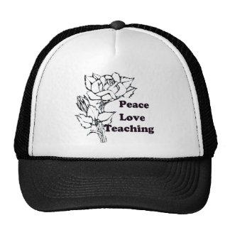 Peace, Love, Teaching Cap