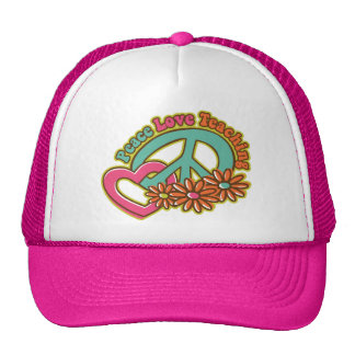 Peace Love Teaching Hats