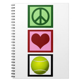 Peace Love Tennis Notebook