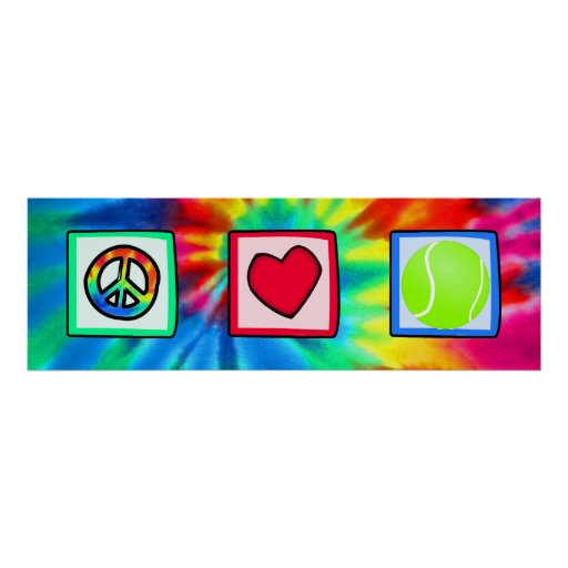 Peace, Love, Tennis Posters